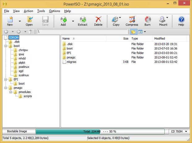 PowerISO screenshot (620 pix)