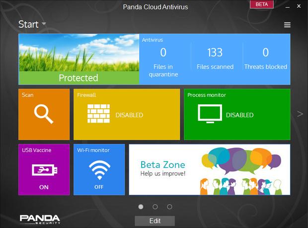 Panda Cloud Antivirus 2.9.0 bèta screenshot (620 pix)