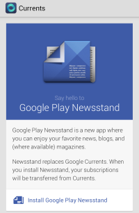 Google Currents stopt