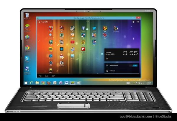 Windows Notebook met BlueStacks