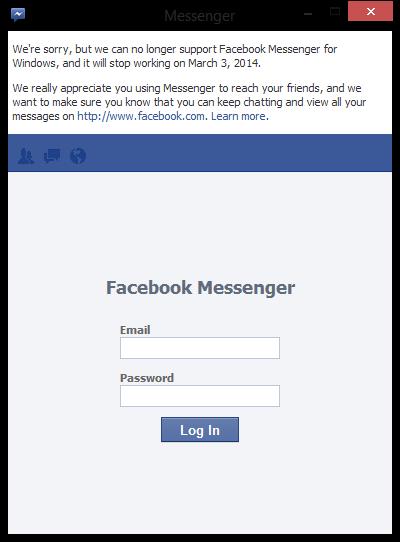 Screenshot Facebook Messenger for Windows