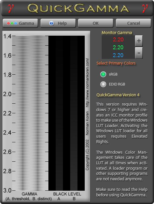 QuickGamma 4.0.0.2 screenshot