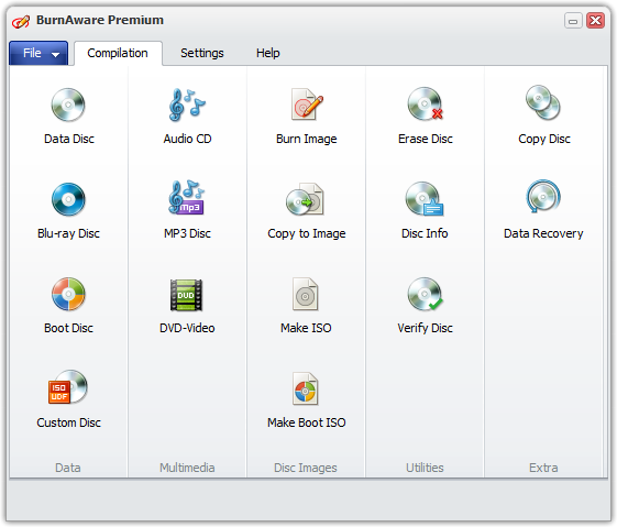 BurnAware Premium 7.0 screenshot