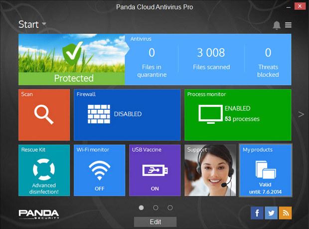 Panda Cloud Antivirus 3.0 screenshot (620 pix)