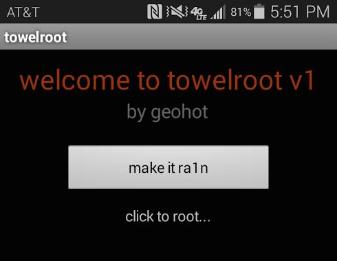 Towelroot, Android-root van GeoHot