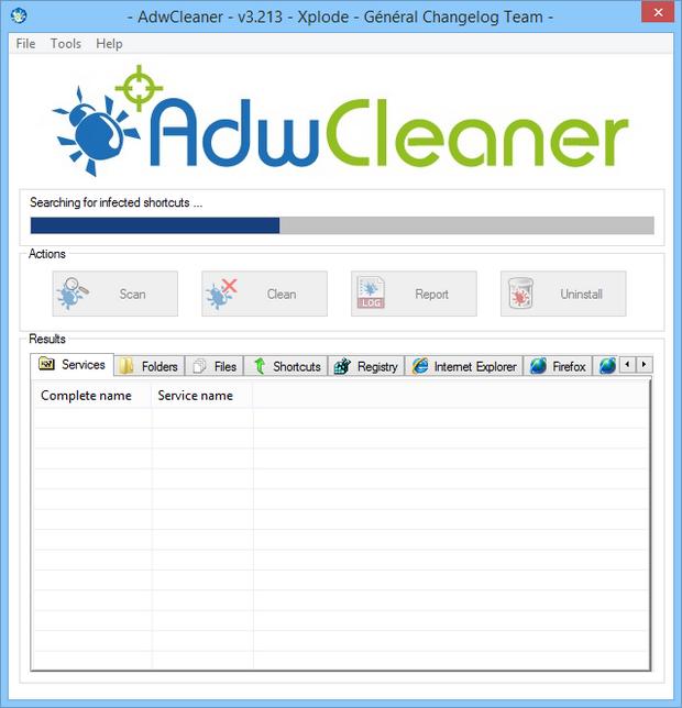 AdwCleaner screenshot (620 pix)