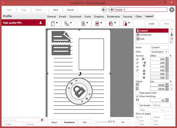 novaPDF 8.0 screenshot (620 pix)
