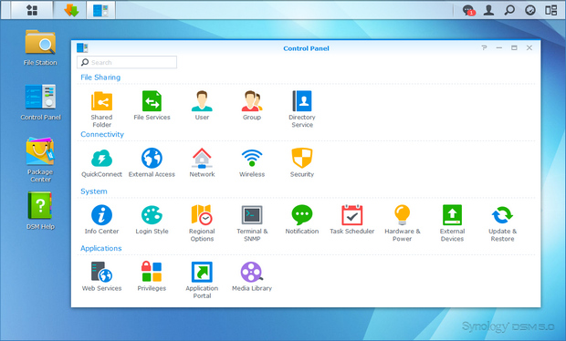 Synology Disk Station Manager 5.0 screenshot (620 pix)