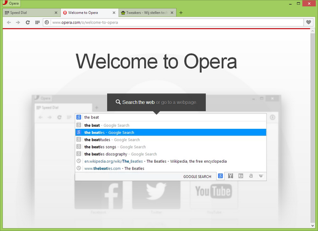 Opera 23 screenshot (620 pix)