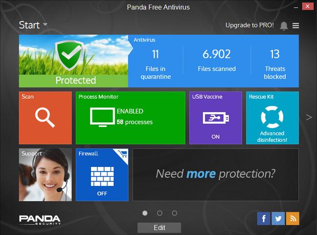 Panda Free Antivirus 15.0 screenshot (620 pix)