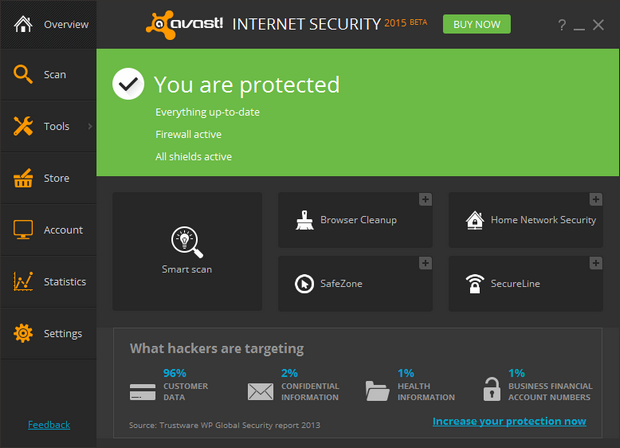 Avast! Antivirus 2015 screenshot (620 pix)