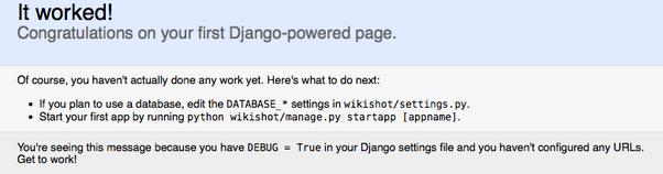 Django screenshot
