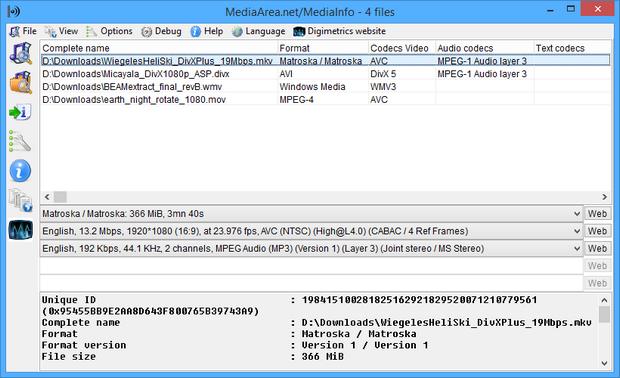 MediaInfo screenshot (620 pix)