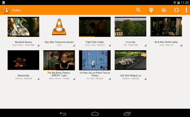 VLC for Android screenshot (620 pix)