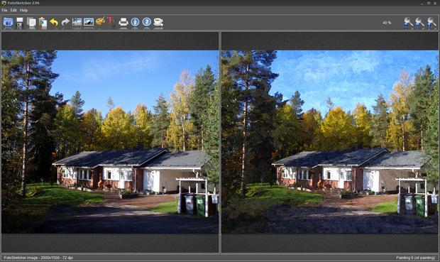 FotoSketcher screenshot