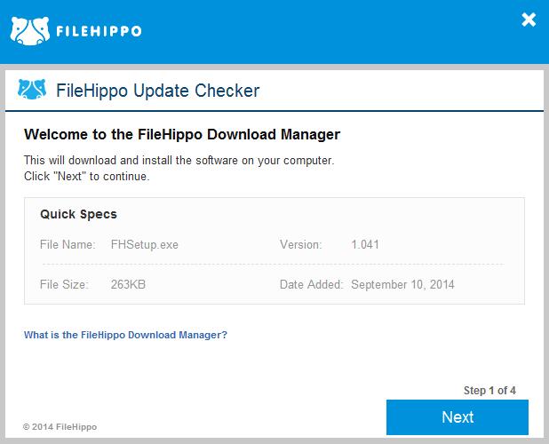 FileHippo Update Checker screenshot (620 pix)