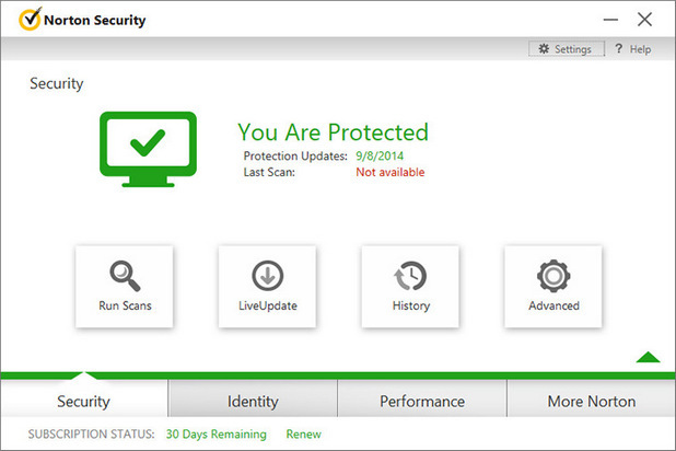 Norton Internet Security 2015 screenshot (620 pix)
