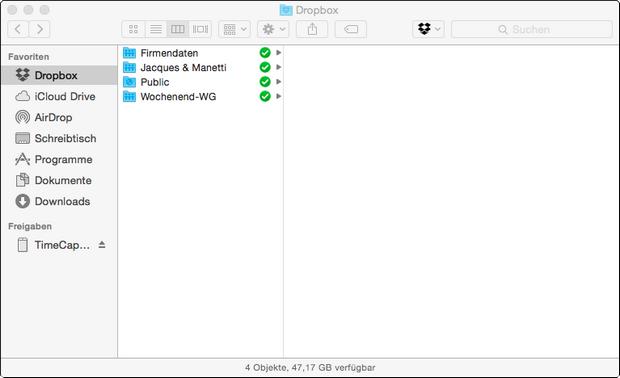 Dropbox 2.11 screenshot (620 pix)