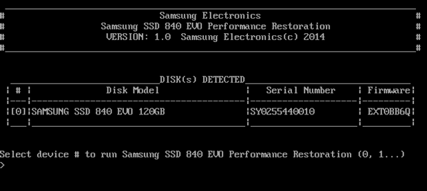 amsung SSD 840 EVO Performance Restoration Software