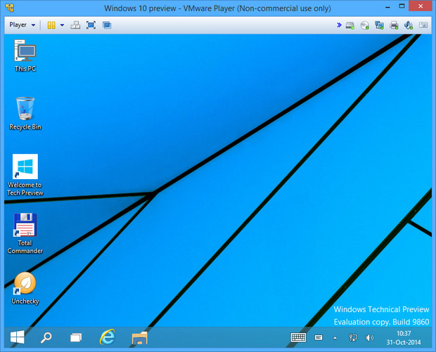 VMware Player 6.0 screenshot (620 pix)