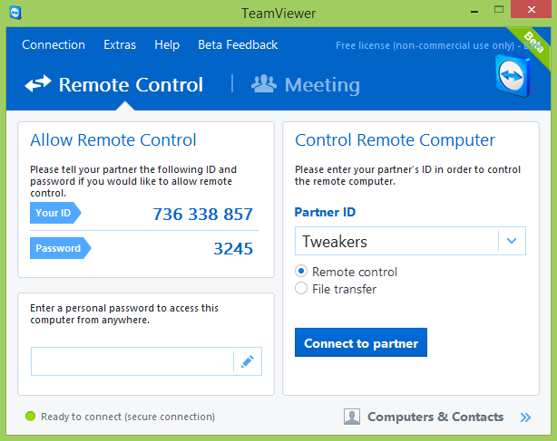 TeamViewer 10.0 screenshot