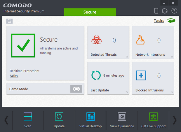 Comodo Internet Security 8.0 screenshot (620 pix)