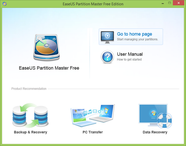 EaseUS Partition Master free screenshot