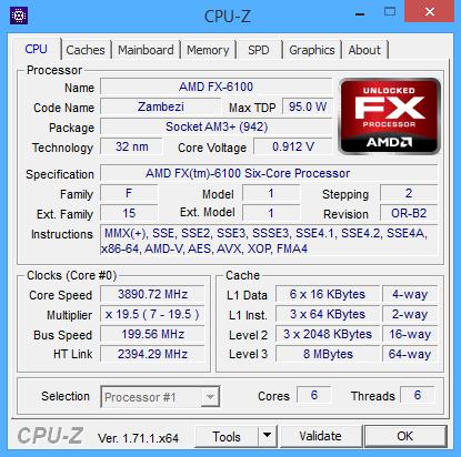CPU-Z 1.70.1 screenshot