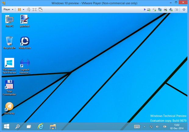 VMware Player 7.0 screenshot (620 pix)