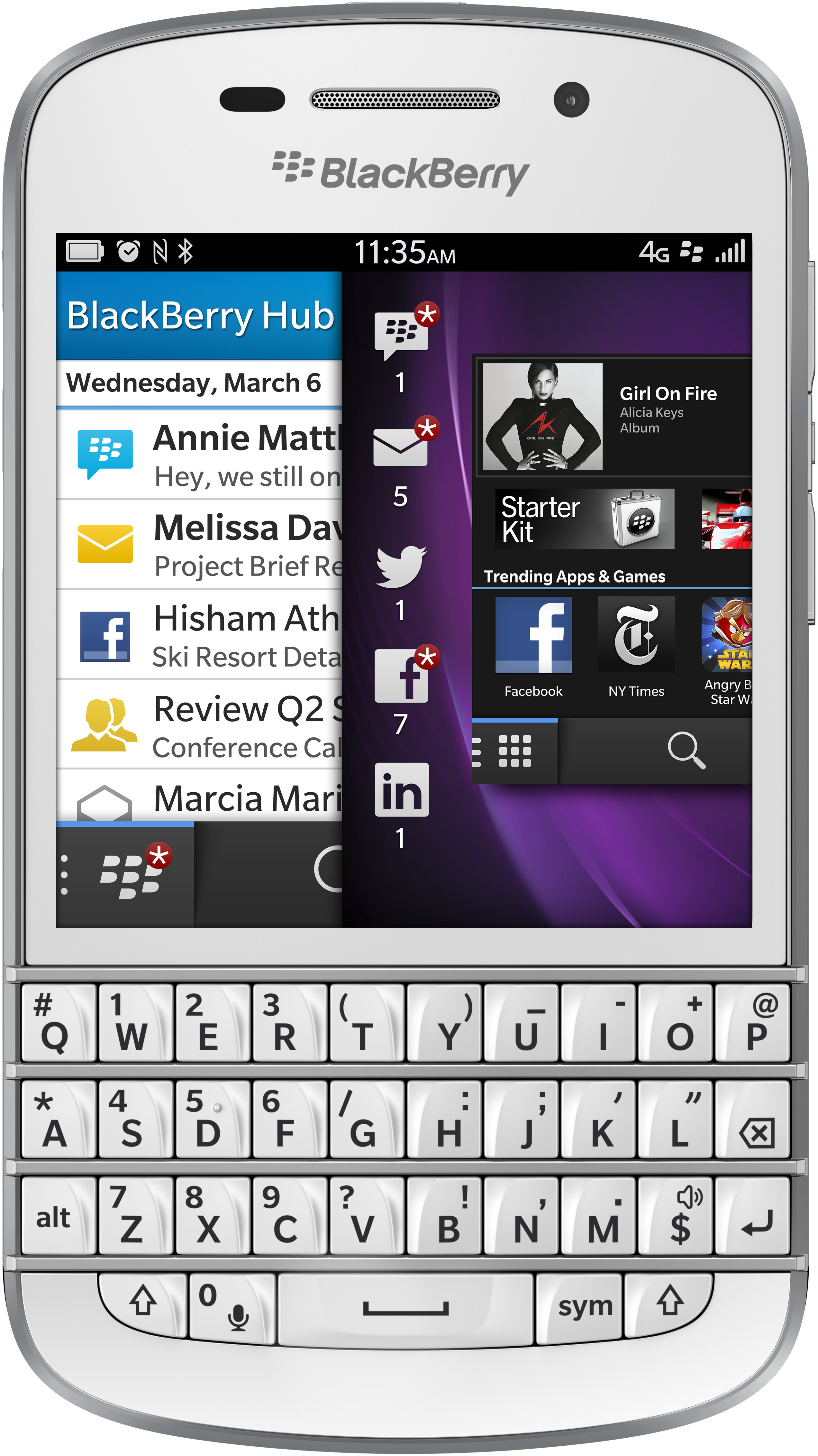 BlackBerry Q10 (Azerty) Wit