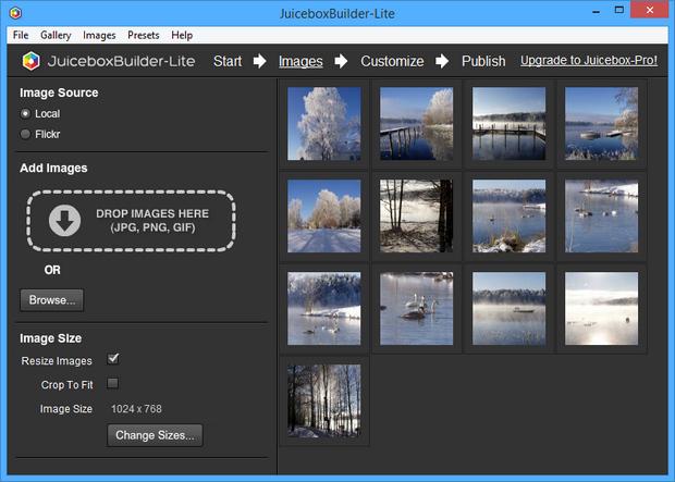 Juicebox screenshot (620 pix)