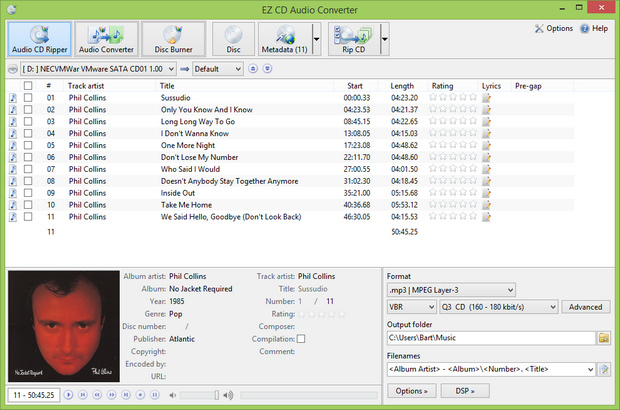 EZ CD Audio Converter 3.0 screenshot (620 pix)