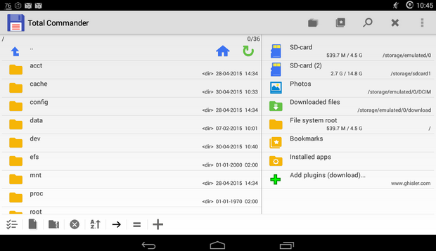 Total Commander for Android screenshot (620 pix)
