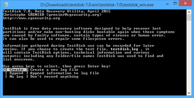 TestDisk 7.0 screenshot