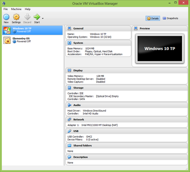 VirtualBox 5.0 screenshot (620 pix)