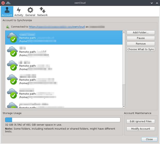 ownCloud client screenshot (620 pix)