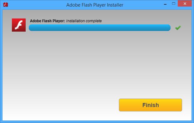 Adobe Flash Player installatie screenshot (620 pix)