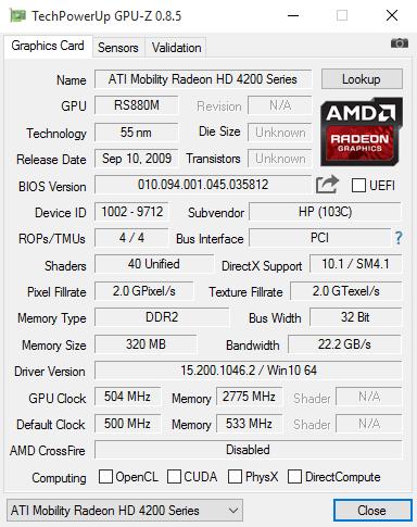 GPU-Z 0.8.5 screenshot
