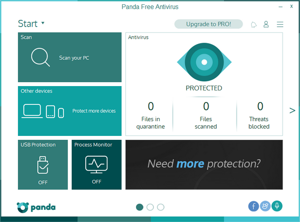 Panda Free Antivirus 2016 screenshot (620 pix)