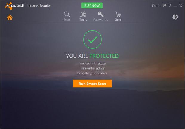 Avast! Antivirus 2016 screenshot (620 pix)
