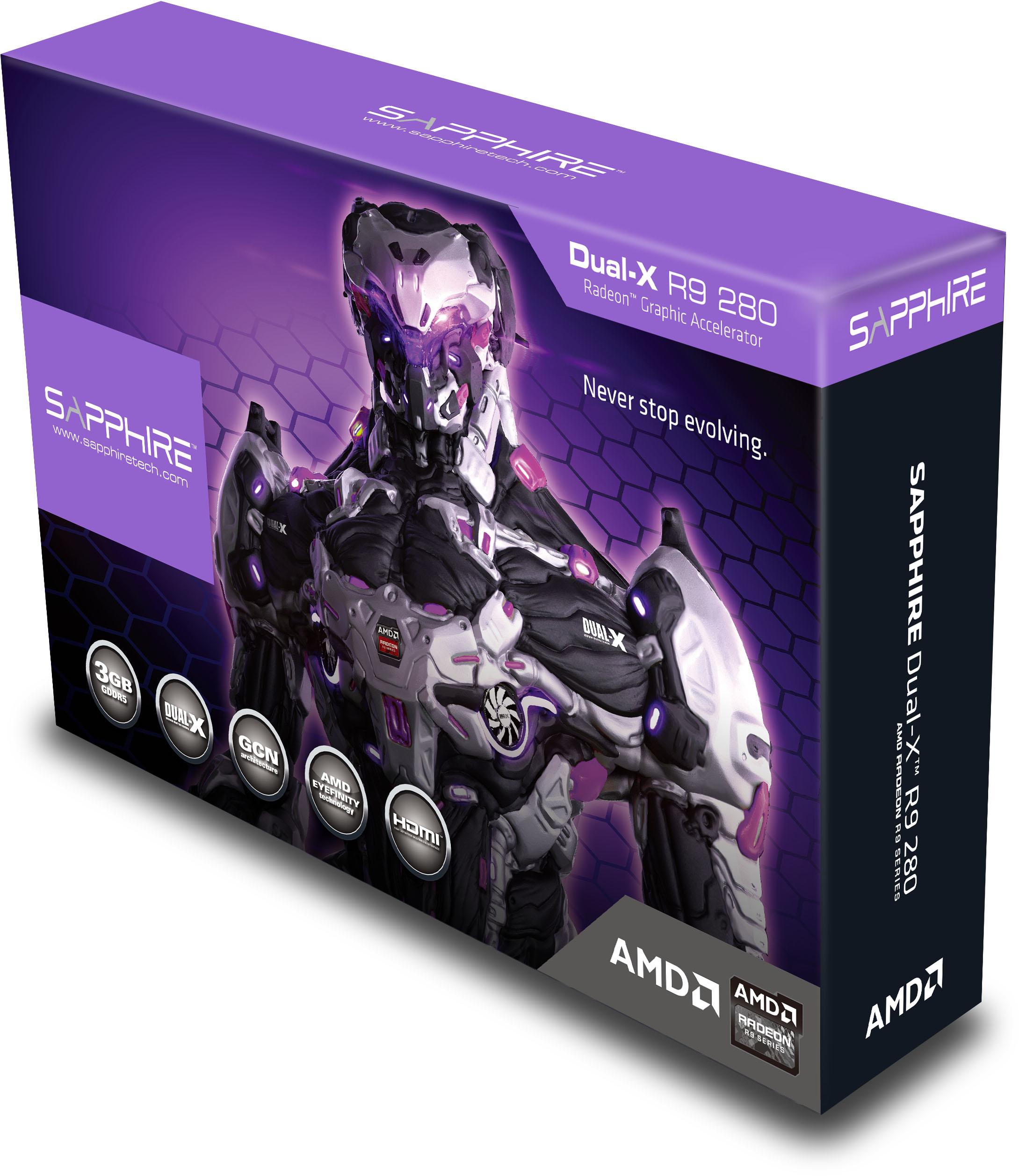 Sapphire R9 280 3GB GDDR5 OC DUAL-X with Boost