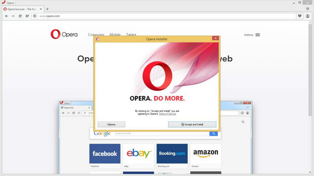 Opera 33 screenshot (620 pix)