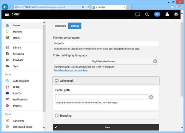 Emby Server screenshot