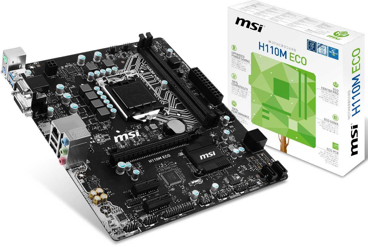 MSI H110M ECO - Specificaties - Tweakers
