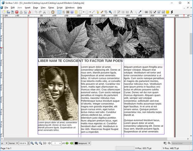 Scribus screenshot (620 pix)
