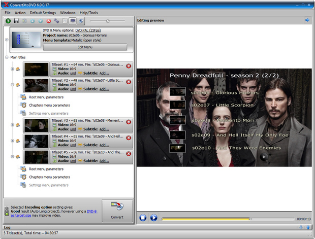 ConvertXtoDVD 6.0 screenshot (620 pix)
