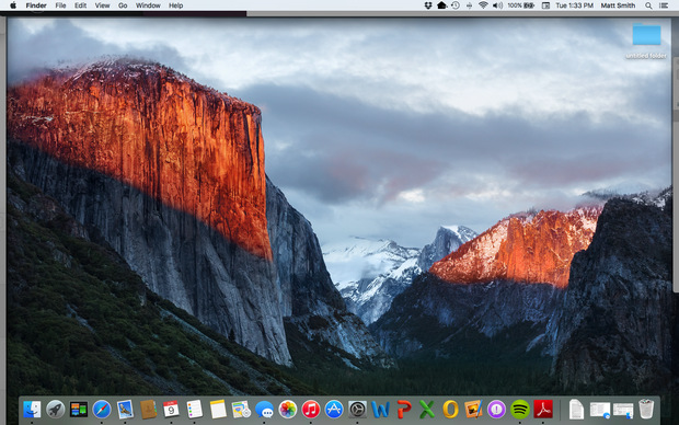 Apple OS X 10.11 El Capitan desktop (620 pix)
