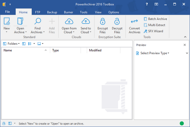 PowerArchiver 2016 screenshot (620 pix)