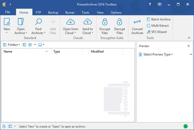 PowerArchiver 2016 screenshot (620 pix)