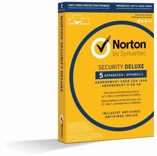 Symantec Norton Security Deluxe 3.0 NL/FR (1 jaar / 5 apparaten ...